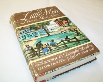 Little Men Book, by Louisa May Alcott, with book jacket