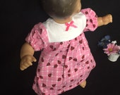 Doll Clothes For 15 Inch Baby Dolls 15 Inch Doll Nightgown 15 Inch Doll Flannel Nightgown Ladybug Sleepwear Made to Fit Like Bitty Baby