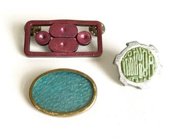 Art Brooches/Recycled Brooches/Pearled Brooches