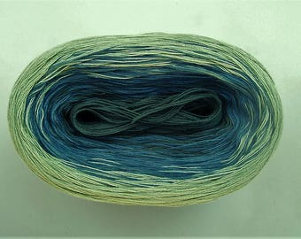 BROOK II  Color Changing Cotton yarn  480 yards/100 gr  Fingering Weight