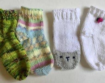 Baby socks knitting pattern DK