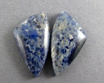 Dumortierite Designer Cabochon Matched Pair (Namibia) SALE 33% OFF