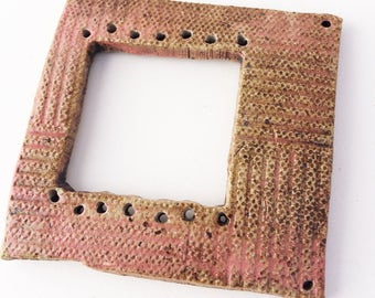 Pottery for Weaving Window rectangular loom style, Mauve, Pink, Brown
