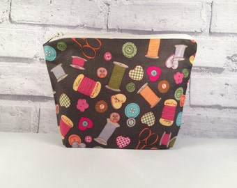 Pencil Case / Cosmetics make up Bag Sewing Threads