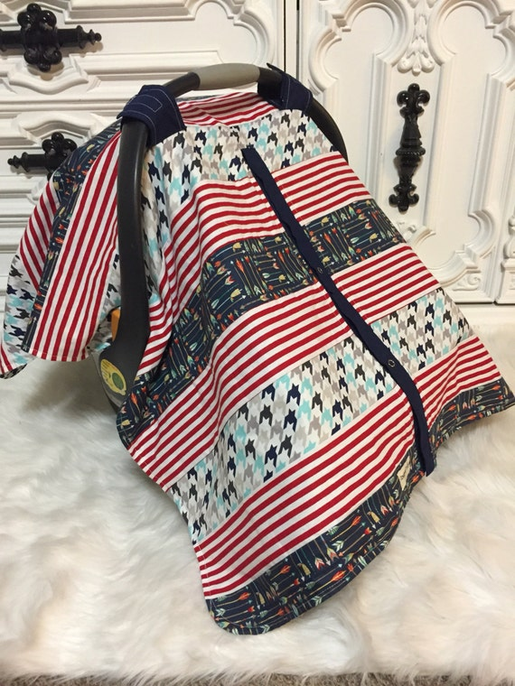 car seat cover / OOAK / carseat canopy / nursing cover / carseat cover /boy/ arrow / infant car seat canopy / carseat cover/ unisex/ RTS