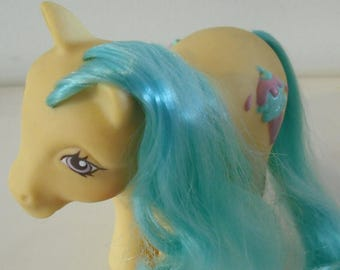 My Little Pony German Swirly Whirly Aqua Hair Hasbro MLP Rare HTF