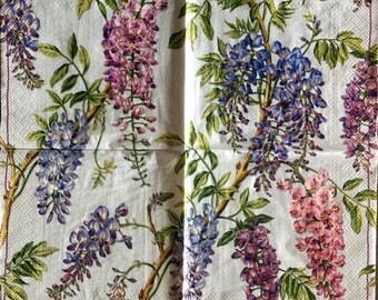 Decoupage Napkins,4+1 FREE Single  Paper Napkins, SPRING FLOWERS, 13 inches (33cm) for Decoupage, Paper-Craft and Collage