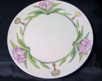 Thomas 'SEVRES' Bavaria China Plate 1910', Gift Plate 7th Div Souvenir R M A Auxiliary Kansas City 1910, China Gift Plate, Souvenir Plate