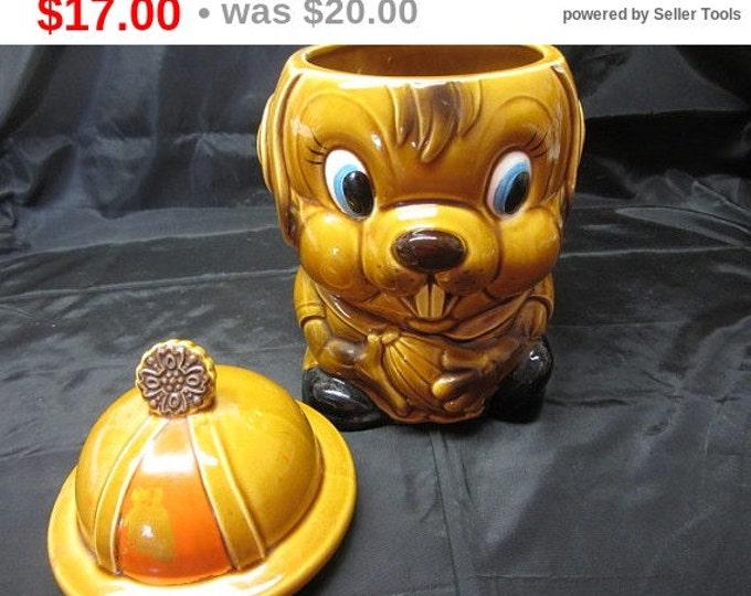 Ceramic Chipmunk Cookie Jar Made in Japan, Chipmunk Cookie Jar, Cookie Jar Vintage, Kitchen Storage, Storage Cookie Jar, Kitsh Chipmunk
