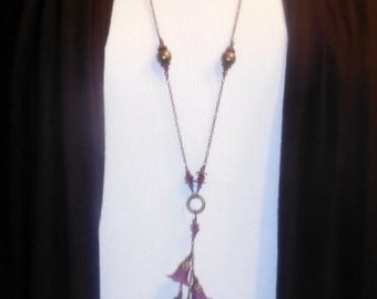 Handmade Necklace- Orchid