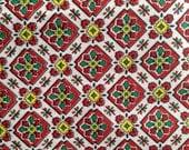 Vintage 50s Cotton Print Fabric 4 yards