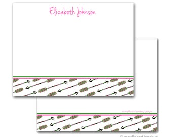 Arrows Pink Personalized Note Cards