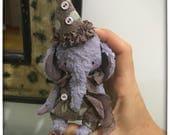 4 inch Artist Handmade Circus Teddy Elephant Lucas by Sasha Pokrass