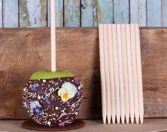 Wooden Candy Apple Sticks, Cake Pop Sticks, Caramel Apple Sticks, Toffee Apple Sticks, Woodlands Party Lollipop Sticks, Corn Dog Sticks