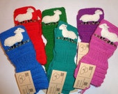 Handknitted gloves with needlecrafted sheep (6 pairs) SPECIAL ORDER for pearch