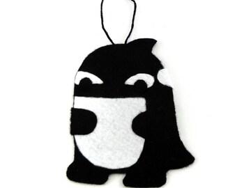 Handmade felt quaggan ornament
