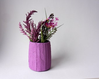 small purple vase / short vase / purple Home Decor / purple mini vase