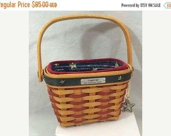 Lovely Longaberger Inaugural Basket Set-- 4 pc set--HARD FIND--Vintage  15% off all 40 dollar and under vintage listings
