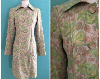 90's spring pastel brocade jacket // dkny floral spring jacket   ~small medium