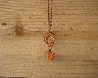 Katniss Necklace - Fire Agate