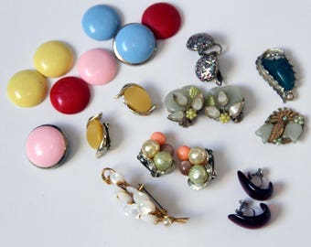 Funky Colorful Thermoset Lot of Repair Jewelry for Craft