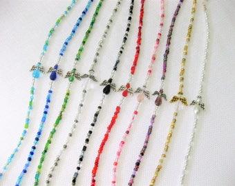 Eyeglass Chain, Eyeglasses Chains, Glasses Chain, Eyeglass Holder, Beaded Eyeglass Chain, Eyeglasses Chain, Long Eyeglass Chain, Angel,EH027