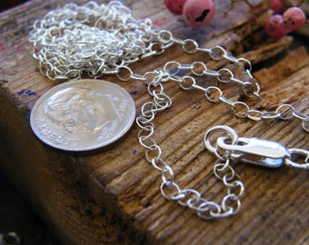 Sterling silver oval link chain