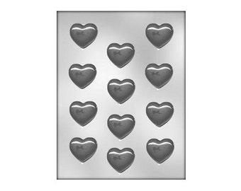 Small Heart Chocolate Mold, Valentine's Heart Chocolate Mold, Heart Plastic Candy Mold