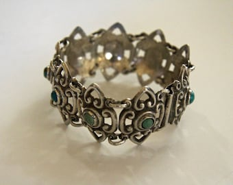 Vintage Mexican Silver Bracelet Mid 1900s