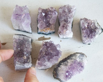 Amethyst Geode Chunk, ONE Small Piece, Add On, February Birthstone, Crystal Destash