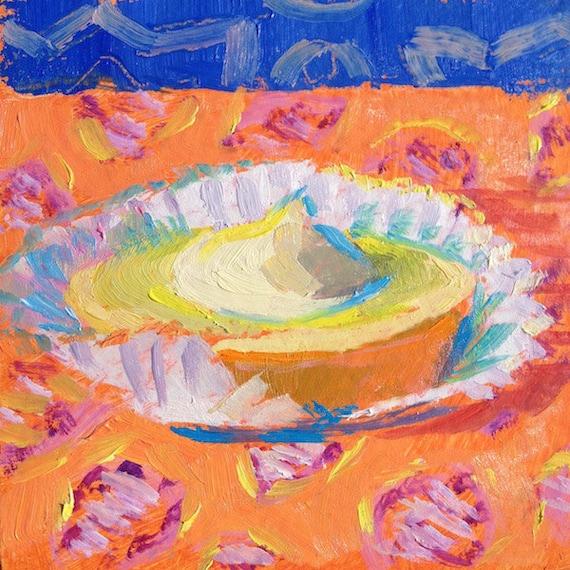 Lemon Tart painting 4x4