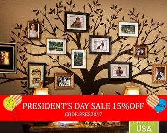 President's Day Sale - Tree Wall Decal, family Tree Wall Decal Sticker - Living Room Wall Decals - wall graphic