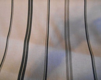 Shades of  GRAY Black And  White  COTTON STRIPES Drapery or Upholstery Fabric, 20-43-23-1113