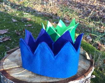 Simply Perfect, Reversible, Two-Toned Felt Crown