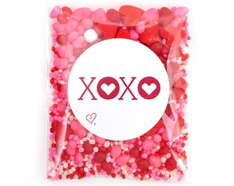 12 Valentine XOXO Packets Candyfetti™ Candy Confetti Sprinkles
