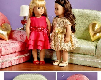 18 inch Doll Clothes Pattern, Doll Furniture Pattern, Doll Sofa Pattern, McCall's Sewing Pattern 6853