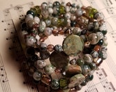 Gorgeous green agate bracelet