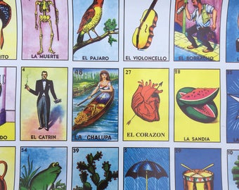 2 Classic Loteria Vintage Wrapping Paper
