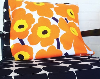 Cushion Floor Pillow, Giant Cushion , Floor Cushion, Pet Bed, Cushion made  from Marimekko Fabric