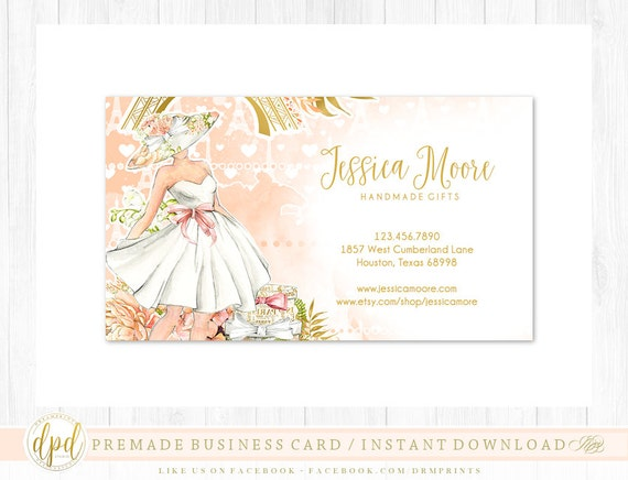Custom Premade Blank DIY Single Sided Business Card | Business Template | Business Branding | Business Graphics | INSTANT DOWNLOAD-AA108