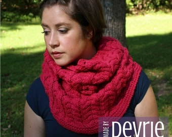Pashmina Cowl Knitting Pattern : Knitting Patterns for all knitters. by MadeByDevrie on Etsy