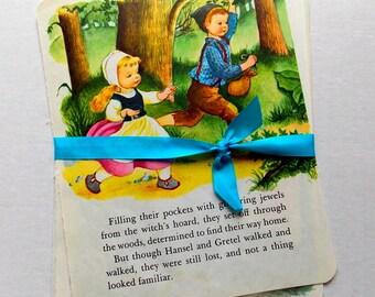 Vintage Children's Book Pages  / Hansel & Gretel