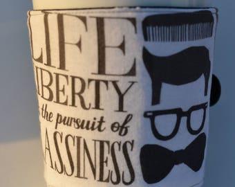 Happiness Reusable Coffee Cozy