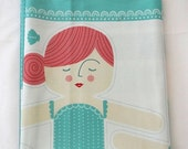 35 Off SALE Mermaid doll panel CORAL Queen of the Sea Moda fabric sewing jellyfish octopus squid Folktale cotton quilt modern Stacy Iest Hsu