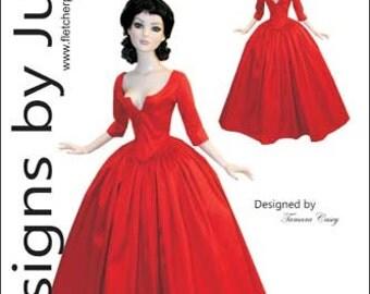 PDF Outlander Claire Dress Pattern for American Model Dolls Tonner