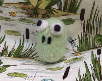 Alpaca Needle Little Stylized Green Frog