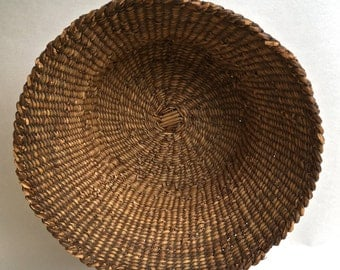 Old Native American Basket Woven Basket