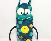 Lucky LENNY - Handmade Monster, Sockmonster, Goodluck Charm
