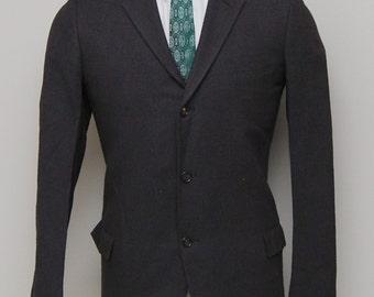 1960s men's brown wool blazer/ 60s men's brown wool blazer/ Lantor's Campau