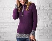 Crochet Sweater pattern, Women, plus size, top down crochet sweater pattern, cowl neck sweater, easy crochet pattern,